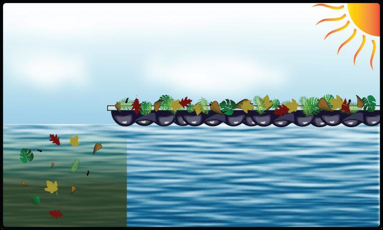 EnergyGuard™ Selective Transmission debris and algae landscape